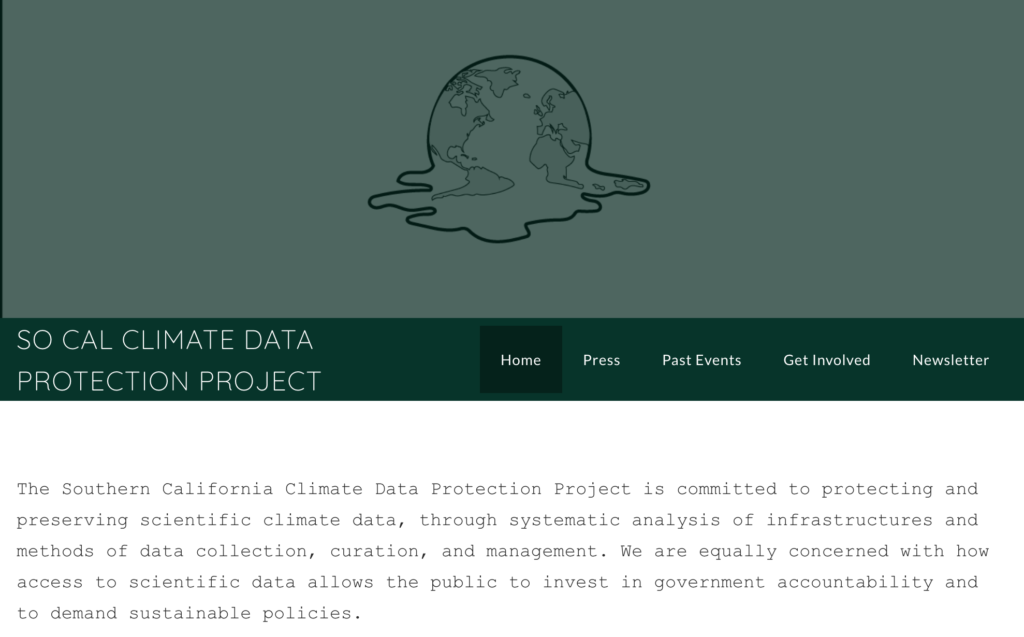 Protecting Climate Data in Times of Political Turmoil - A Report from Los Angeles