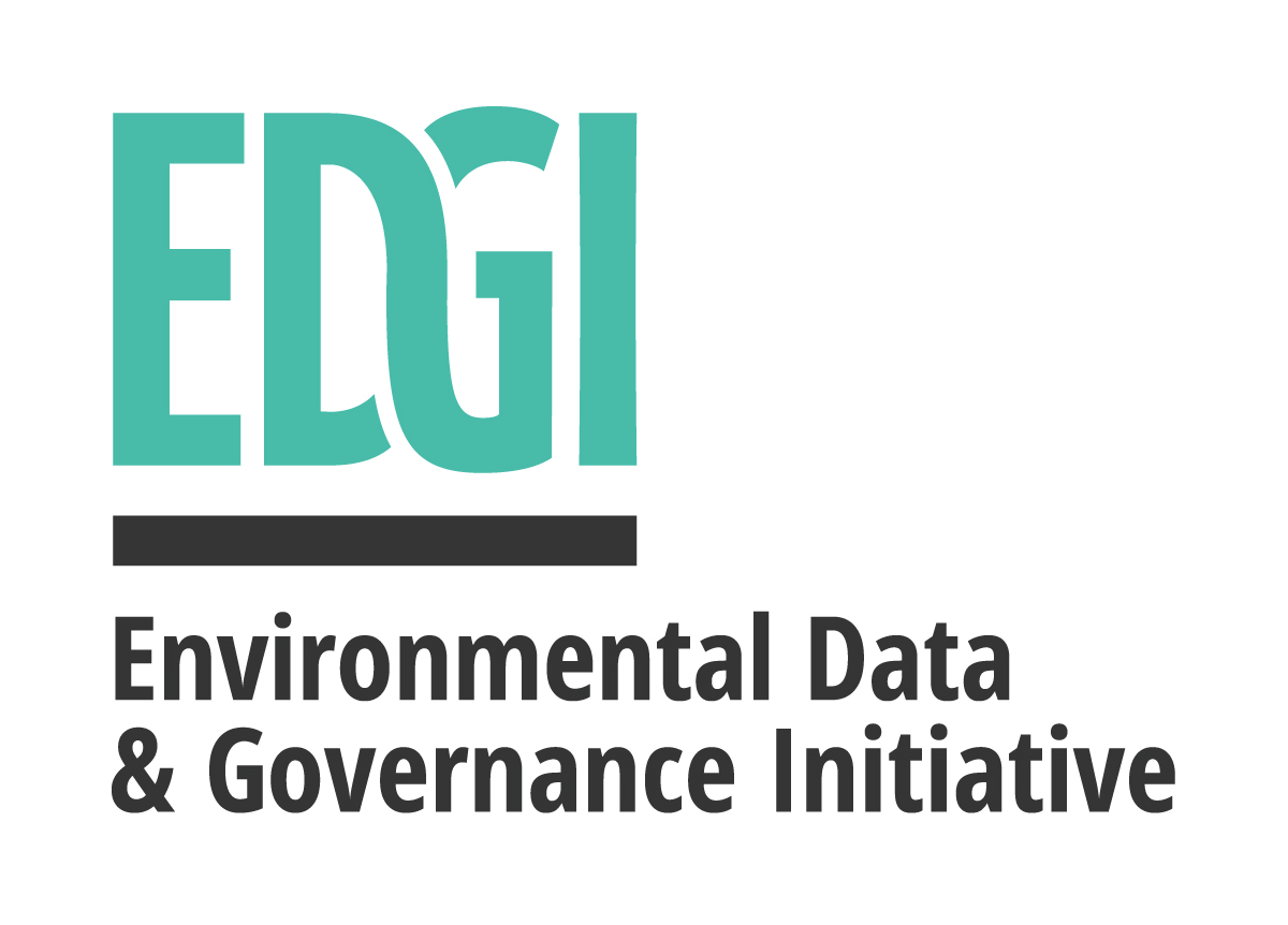 Image Description: Logo for environmental data and governance initiative with the acronym EDGI highlighted