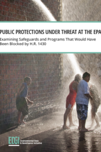 Public Protections Under Threat at the EPA: Examining Safeguards and Programs That Would Have Been Blocked by H.R. 1430 — White Paper