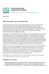 EDGI Introduction and Accomplishments — Report