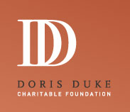 Image Description: Logo for Doris Duke Charitable Foundation stylized as a white double D on a orange brown background