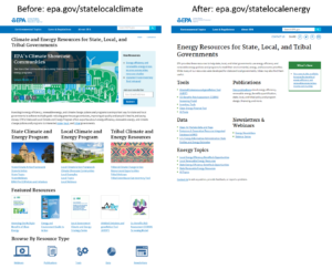 "EPA's Website Overhaul Continues: Climate Resources Left Out of the Update to the ""Climate and Energy Resources for State, Local, and Tribal Governments"" Website"