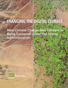 Cover of EDGI's Changing the Digital Climate report