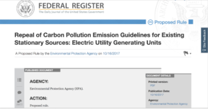 Comment on the EPA's Proposed Rule to Repeal the Clean Power Plan Focuses on Access to Online Resources