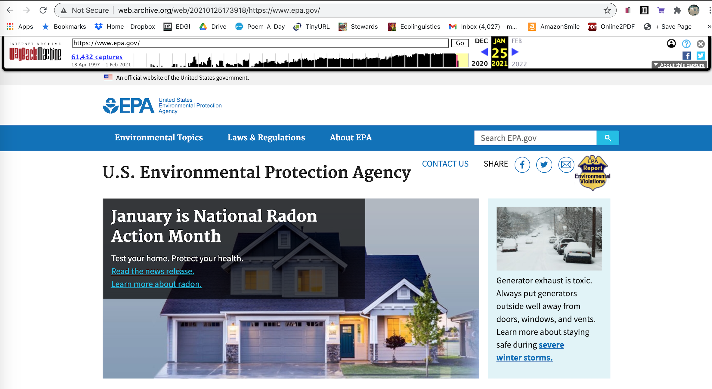 Since Biden's Inauguration, Environmental Enforcement Has New Place of Prominence on the EPA's Homepage