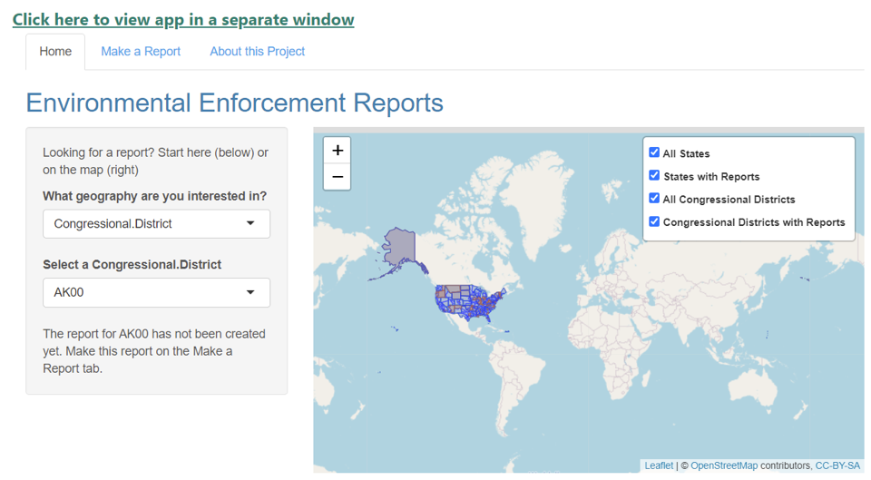 Environmental Enforcement Watch's Report Portal Project is Funded by ESIP Lab Grant