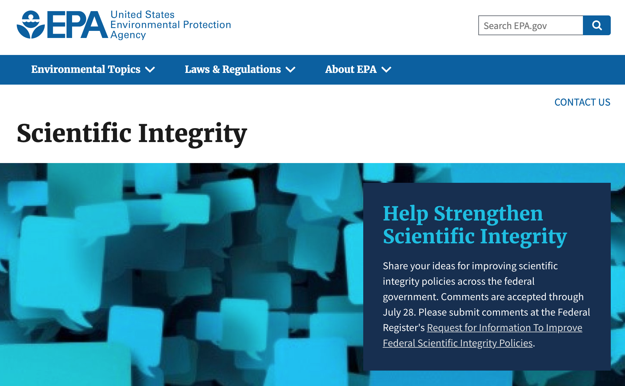 EDGI Urges White House Scientific Integrity Task Force to Improve Public Information Policies